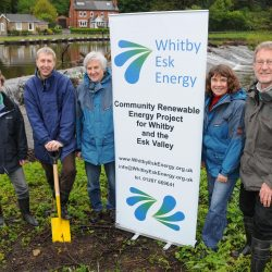 Adrian Pitches and Whitby Esk Energy team marking start of installation