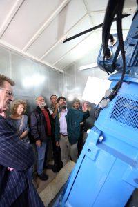 Inside the turbine kiosk