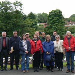 Coop area committee visit site